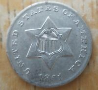 1851 Three Cent Silver Piece CHOICE AU About Uncirculated or MS Trime, Offer!!