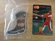 2004 Houston ALL STAR GAME MasterCard Prize Card & BOOT MAGNET New in package
