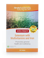 Selenium 220mcg with Multivitamins & Iron 120 Tablets |Hair, Skin & Nails Immune
