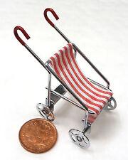 1.12 th échelle Baby Buggy-POUSSETTE-LANDAU poupées maison miniature nursery jouet
