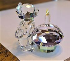 "Swarovski Crystal ""Time to Celebrate"" Kris Bear Figurine, w/ Cupcake, NIB, COA"