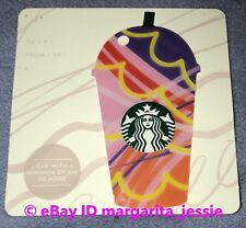 STARBUCKS GIFT CARD RED/PINK SUMMER FRAPPUCCINO 2018 NEW NO VALUE DIE CUT Canada