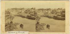 Photo Albuminé Stéréo Port Vieux Biarritz Pyrennés Vers 1870
