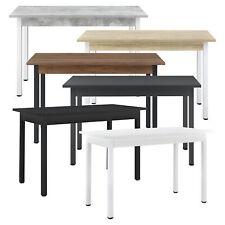 [en.casa] Esstisch Küchentisch Esszimmertisch Speisetisch Tisch MDF 120/140x60cm