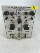 Vintage Tektronix Type 1a1 Dual Trace Plug In Unit Parts Or Repair