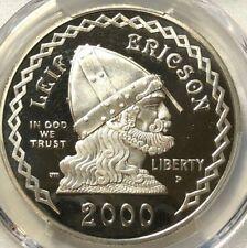 2000 P PCGS PR69 Deep Cameo Leif Ericson Silver Dollar $1 ~ Rare Commemorative