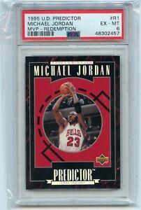 "1995-96 U.D. PREDICTOR #R1 MICHAEL JORDAN ""MVP - REDEMPTION"" BULLS, PSA 6 (2457)"