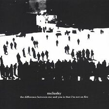 The Difference Between Me and You Is That I'm Not on Fire by Mclusky CD