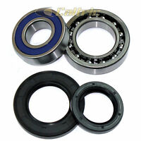 Rear Wheel Ball Bearings Seals Kit for Yamaha Big Bear 350 YFM350 2WD 1996-1999