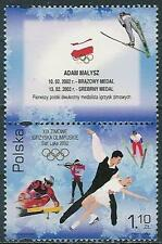 Poland stamps MNH Olympic winter medals (Mi. 3952 labT)