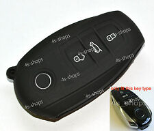 Black Silicone Bag Remote Key Case Cover Holder For VW Touareg Smart Fob 3Button