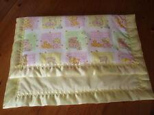Handmade Lovely Patterned Baby Cover & Pale Yellow Satin Blanket Binding