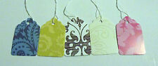 500 Colorful Damask Designer Paper Price Strung Merchandise Tags 5 Colors #5