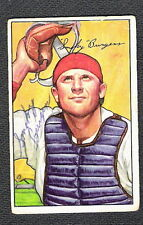 Autographed Smokey Burgess (D.1991) 1952 Bowman Card #112 Philadelphia Phillies