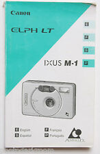 Canon Elph LT Ixus M-1 APS Film Camera Manual Instruction Book En Fr E P USED GD