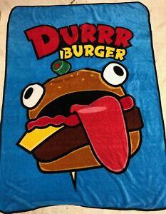 Fortnite DURRR BURGER Blanket Throw 47x68 Fleece Wall Decor
