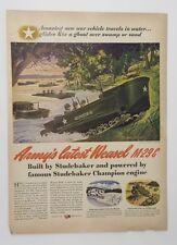 Original Print Ad 1944 STUDEBAKER Army Weasel M-29 C Champion Art Taliander