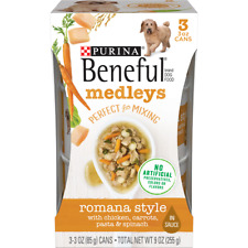 Purina Beneful Medleys Perfect for Mixing Romana Style (2) Packs Of 3-3 oz Cans