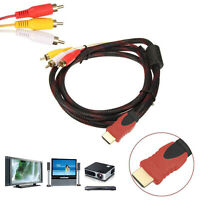 HDMI Male To 3 RCA Video Audio AV Component Converter Adapter Cable HDTV 1080P