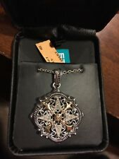 EFFY BH Silver And 14K Diamond Pendant Necklace With Chain New NWT 0.18 CT