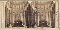 Choeur Da La Basilique Monte Saint-Michel Foto Stereo Vintage Albumina C 1870