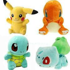 4 Pcs Set Stuffed Doll Pokemon Pikachu Bulbasaur Squirtle Charmander Plush Toy