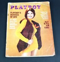 VTG Playboy Magazine October 1972 Sharon Johansen Bunnies of 1972 M Kahane+