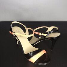 LORIBLU  Black Leather Strappy Sandals 39 / US 9 EUC Vero Cuoio