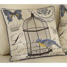 zauberhaftes Landhaus Kissen French Franske Vogel Schmetterling Shabby bestickt