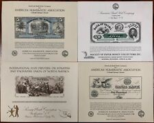 United States American Bank Note Souvenir Cards SO14-17 1981 Mint