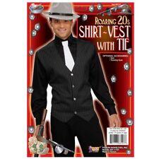 ROARING 20's GANGSTER SHIRT-VEST W/ TIE COSTUME MEN'S SIZE STANDARD