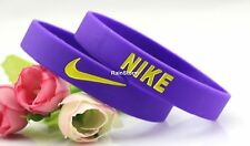 Nike Wrist Band NEW Baller Band Silicone Rubber Black Red Pink Blue White