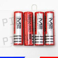 4 PILES ACCUS RECHARGEABLE 18650 3.7V Li-ion BATTERY AKKU + BOITE DE RANGEMENT
