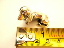 15grm Solid Sterling Silver Basset Hound Dog Miniature statue Collectable figure
