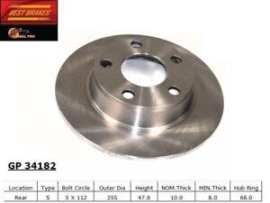 Disc Brake Rotor-Standard Brake Rotor Rear Best Brake GP34182