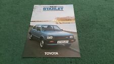 March 1984 TOYOTA STARLET 1.0GL 3 door - UK FOLDER BROCHURE