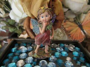 "Fairy Garden Miniature 3"" fairy figurine holding flower NEW"