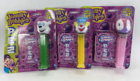 "Yummy Bubble Blowers w/ Wands PEZ 6"" Large Dispensers Clown Firefy Bear NOS"