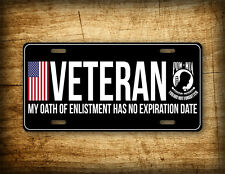 VETERAN LICENSE PLATE Military AM Vet POW MIA American Flag Auto Tag 6x12