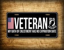 VETERAN LICENSE PLATE Military AM Vet POW MIA American Flag Auto Tag 6x12