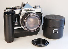 OLYMPUS OM-1 Motor drive (MD) 35mm SLR camera and Zuiko f1.8/50mm lens
