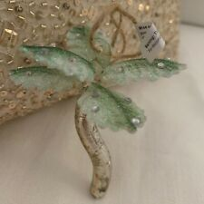 NIB Pottery Barn ~PALM TREE~ Coastal GLASS Ornament ~CHRISTMAS~ FLORIDA Beach