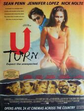 U TURN 1997 original POSTER ADVERT SEAN PENN JENNIFER LOPEZ NICK NOLTE