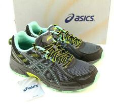 ASICS Gel Venture 6 Size 6.5 Black / Carbon / Neon Womens Trail Shoes RETAIL $69