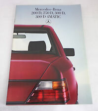Prospekt Mercedes Benz W124 Diesel 200 250 300 D 4Matic, Stand Juni 1986