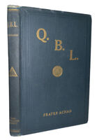 FRATER ACHAD, Q.B.L. or THE BRIDE'S RECEPTION, ALEISTER CROWLEY, OCCULT, REPRINT