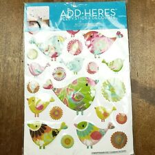 ADD-HERES Glitterpuff Chipper Birds 3D Puffy Stickers Wall Decor Lot 26 Studio