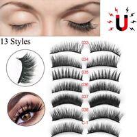 2 Pairs Triple Magnetic Eyelashes Handmade Reusable False Eye Lashes Extension