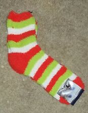 NEW Women's Super Soft Fuzzy Socks Slippers  Orange Green White New