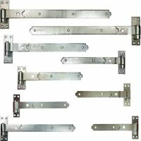 Heavy Duty Hook and Band Gate Shed Stable Door Hinges Galvanised and Self Colour